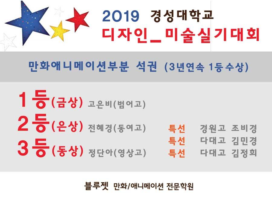 2019경성대 실기대회 석권