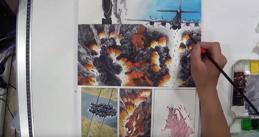 [불루젯/그림과정] 칸만화 폭격 그림과정