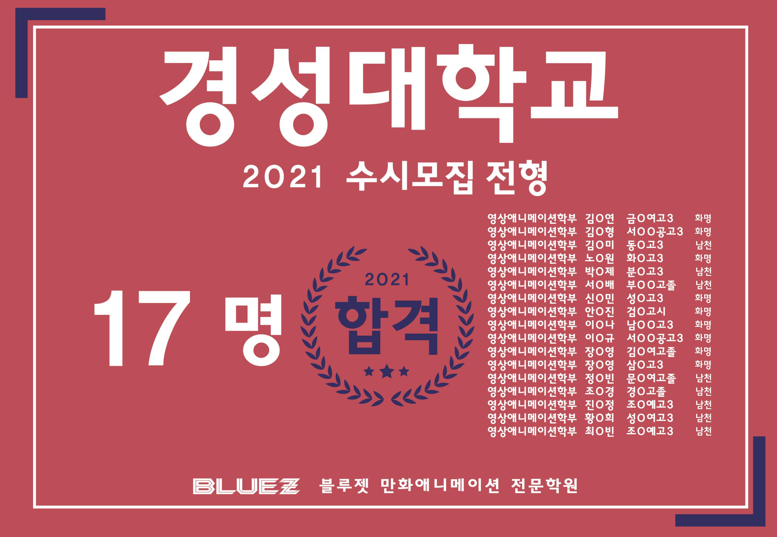 2021 경성대 수시합격 축하합니다